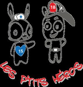 La Boutique des P'tits Héros - jeux secourisme enfant - vêtement - logo des Ptits Héros